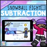Kindergarten Math Game Subtraction BOOM CARDS | 1st Grade Math Game FREE