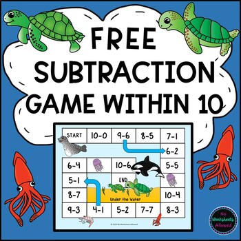 FREE Subtraction Within 10 Game