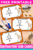 FREE Subtraction Task Cards, Find the Missing Number Games