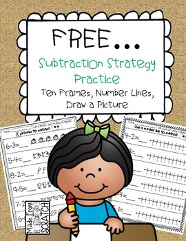 FREE...Subtraction Strategy Practice-Draw a Picture, Ten F