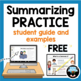 FREE Summarizing Student Guide and Examples for Distance Learning