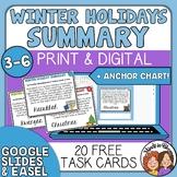 Summarizing Task Cards for Christmas, Hanukkah, and Kwanza