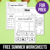 FREE Summer Activities For Kindergarten (Math & Literacy No Prep)
