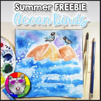 FREE Summer Art Project, Ocean Birds