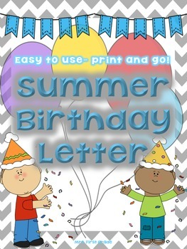 free summer birthday letter