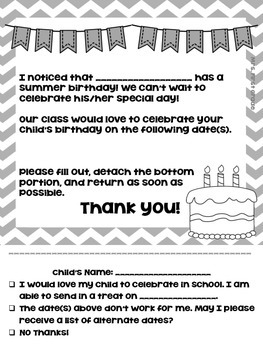 "FREE ""Summer Birthday Letter"""