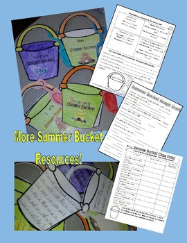 Summer Bucket List Glyph and Writing Activity End of the Year!