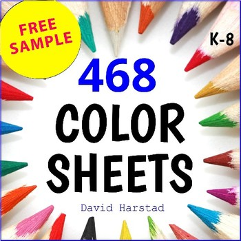 FREE - Summer Coloring Pages (K-6)