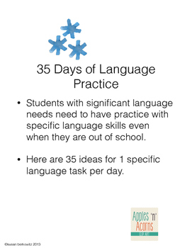 FREE Summer Communication Fun for students who need language support
