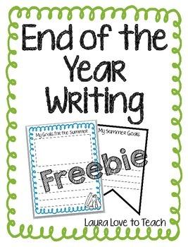 FREE Summer Goals Writing