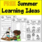 FREE Summer Learning Ideas for ELLs