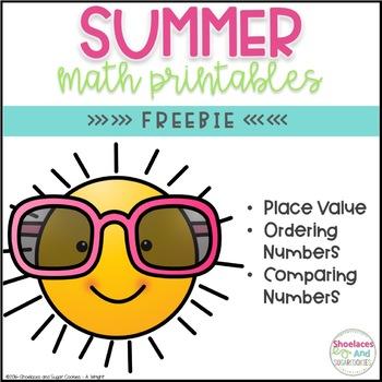 FREE Summer Math Printables