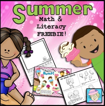End of the Year Activities FREE Kindergarten 1st 2nd Summer Math & Literacy Pack