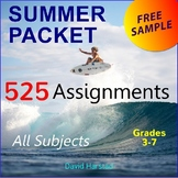 FREE - Summer Packet | 4 Humor Writing Prompts (Gr. 3-7)
