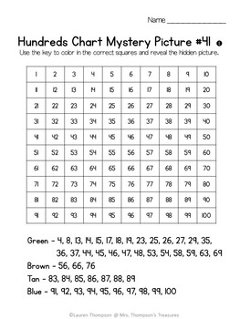 FREE Summer Palm Tree Hundreds Chart Mystery Picture