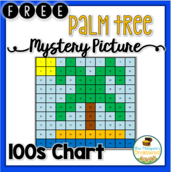 FREE Summer Palm Tree Hundreds Chart Mystery Picture   TpT