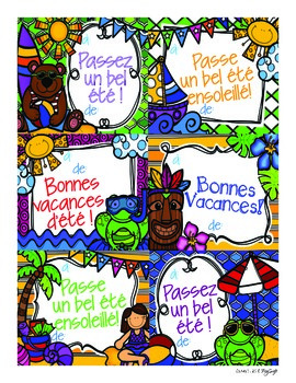 FREE Summer Postcards ~ French