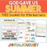 FREE Summer Preschool Bible Booklet