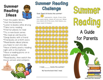 Summer Reading Brochure for Parents (Free!)