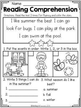 Juicy image with regard to kindergarten reading printable worksheets