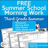 FREE Summer School Morning Work    Third Grade Math    Distance Learning