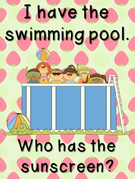 FREE Summer Themed Game: I Have/Who Has?