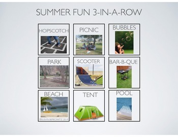 FREE Summer Vacation Fun Vocabulary Practice Game