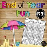 FREE- Summer Word Search Beach Theme