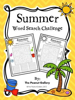FREE- Summer Word Search Challenge