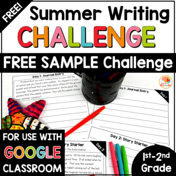 FREE Summer Writing Challenge Sample for 1st and 2nd Grade