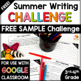 FREE Summer Writing Challenge Sample for 3rd and 4th Grade