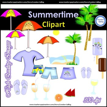 FREE - Summertime Clipart- Personal and Commercial Use