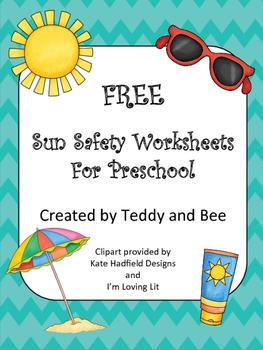 FREE Sun Safety Worksheets - PreK