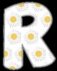 FREE Sunflower Letters