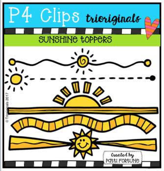 FREE Sunshine Toppers (P4 Clips Trioriginals Clip Art)