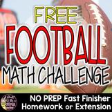 Football Math Challenge | 2nd 3rd Grade FREE Football Math Activity Printable