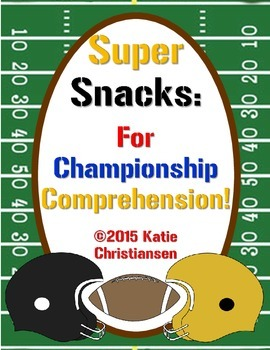 FREE Super Bowl Snacks Reading Comprehension