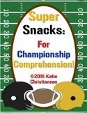 FREE Super Bowl Snacks Reading Comprehension