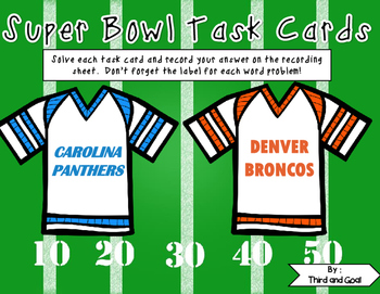 FREE Super Bowl Task Cards or Scoot Game