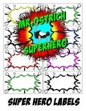 FREE Super Hero Classroom Labels