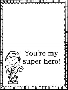 FREE Super Hero Mother's Day Cards