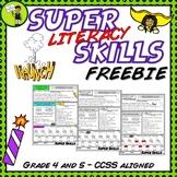 FREE Super Literacy Skills Activity - Punctuation, Vocabul