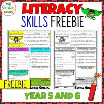 FREE Super Literacy Skills Activity - Punctuation, Vocabulary, Grammar (NZ)