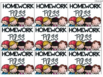 FREE Super Star Work and Homework Pass