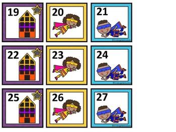 FREE Superhero Calendar Numbers