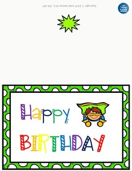 FREE - Superhero Happy Birthday Cards