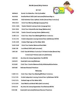FREE Superhero Preschool Schedule Editable