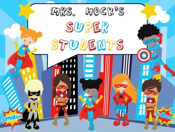FREE Superhero / Super Students Sign - Editable!