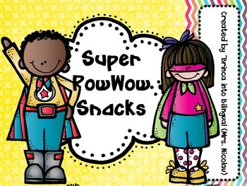 FREE - Superheroes Snack Bag Labels ENGL & SPAN