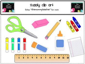 Clip Art: School Supplies ClipArt